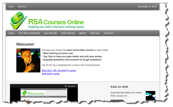 RSA Old Website